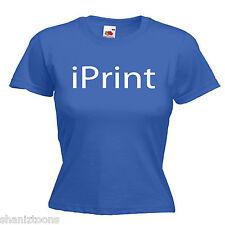 Impresora señoras para mujer dama Calce Camiseta