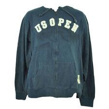 US Open Tad Davis Undated Vinatge Distressed Mens Full Zip Hoodie Navy Blue