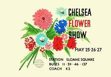 VINTAGE 1938 CHELSEA FLOWER SHOW LONDON A3 POSTER REPRINT