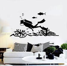 Vinyl Wall Decal Scuba Diving Center Diver Ocean Stickers Murals (ig4706)