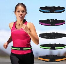 Waist Running Pocket Zip Belt Bum Bag Hiking Cycling Jogging Travel double Pouch