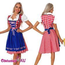 Ladies Oktoberfest Beer Maid Wench German Bavarian Heidi Fancy Dress Costume