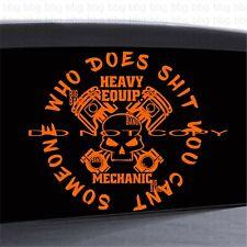 Heavy Equipment Mechanic Vinyl Decal Sticker LRG 11...