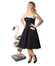 SugarShock Kahira 50er retro Polka Dots Petticoat Rockabilly Träger Kleid