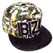 Ibiza Camo Snapback Cap Green Camouflage Trucker Hat White Black Military Army
