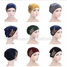 Muslim Women New Velvet Ruffle HIjab Headwrap Cap Scarf Arab Turban Shawls Scarf
