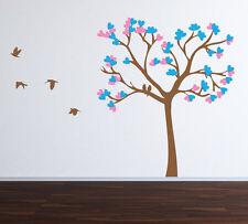 Wall Art Tree T6 MIRR Birds Vinyl Decor Decal Sticker Mural Decoration T6D