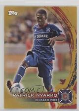2014 Topps MLS Gold #4 Patrick Nyarko Chicago Fire Soccer Card