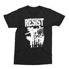 RESIST- Flag Burn-Shirt-punk,crust,boycott,discharge,hell bastard, detestation