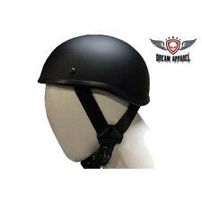 SOA Beanie Novelty Flat Black Motorcycle Half Helmet Cruiser Biker S,M,L,XL,XXL