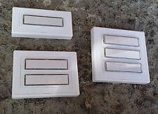 Klingel Klingeltaster Klingelknopf Klingelplatte - Auswahl - Kunststoff / weiß
