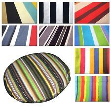 Flat Round Shape Cover*Striped Cotton Canvas Floor Seat Chair Cushion Case*AK1