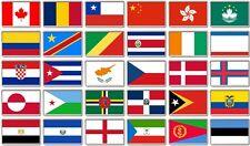 FRIDGE MAGNET - WORLD FLAGS (Various) Large Jumbo, C to E