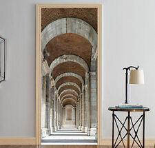 3D Korridor 434 Tür Mauer Wandgemälde Foto Wandaufkleber AJ WALL DE Lemon