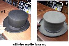 cappello cilindro medio nero grigio cerimonia hat man inverno 2018 a 15 moc c9e3e02fca83