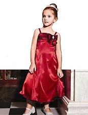 Bourgogne / rouge filles fleur filles demoiselles d'honneur robe fête de mariage Taille 4 6 8 10 12