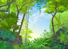 Tropical Jungle Green Plants Photography Backdrop Photo Background Studio Props