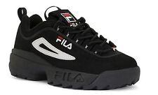 Fila DISRUPTOR II Nubuck Black White Red Men's Shoe FW01653-018 Sz8-13 H SS