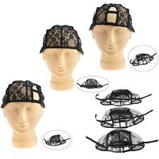 Wig Making Base Inner Cap Adjustable Weave Breathability Weaving Lace Net Black