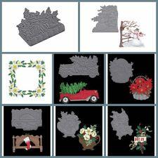 Flowers Xmas Cutting Dies Stencil Scrapbooking Album Embossing Crafts Gift Card