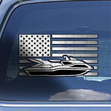 USA Flag Watercraft Decal Sticker American flag jet ski waverunner decal sticker