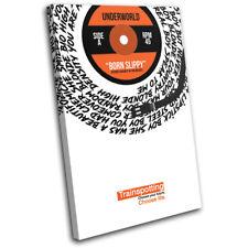 Underworld Born Slippy Lyrics Vinyl SINGLE CANVAS WALL ART Picture Print
