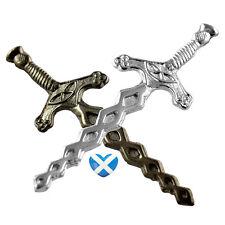 Celtic Style Sword Kilt Pin - BRAND NEW - Chrome or Antique Finish - Scottish