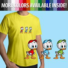 Huey Dewey and Louie Duck Disney DuckTales Cartoon Unisex Mens Tee Crew T-Shirt