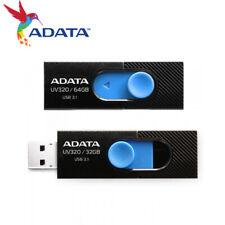 ADATA UV320 32G 64G Capless Design USB 3.1 USB Flash Pen Drive BLACK