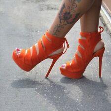UK Women Platform Sandals Pumps Stiletto Heels Hollow Out Shoes Slingback Big SZ