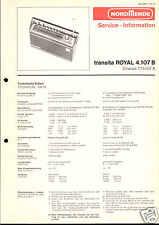 Nordmende Original Service Manual für Transita Royal 4.107B
