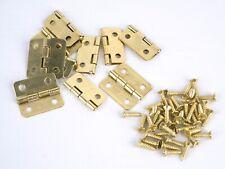 10 Mini - Scharniere 18x16 mm goldfarben inkl. Schrauben für Schatullen Möbel ..