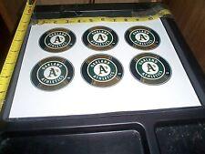 6 baseball logo stickers MLB Oakland Athletics FREE SHIPPING