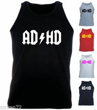 AD HD parody logo Custom Tank Top Athletic Vest