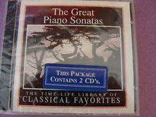 Great Piano Sonatas sealed 2 CD set Beethoven Schubert Mozart Liszt