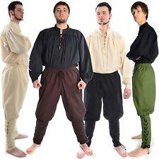 Mittelalter Wikingerhose aus Baumwolle mit Schnürung an Waden Schnürhose LARP