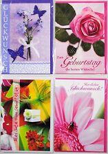 Geburtstagskarten mit Umschlag - zum auswählen - Grußkarten - Klappkarten