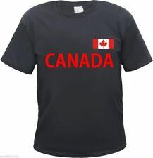 CANADA Herren T-Shirt - Schwarz/Rot - Text und Flagge - kanada ottawa amerika