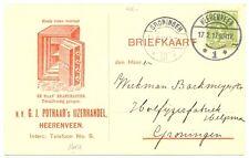 NEDERLAND 1917  RECLAME   BK = POTHAAR HEERENVEEN BRANDKASTEN   == VF