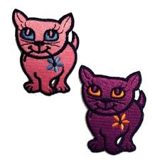 Ecusson - chat animal - plusieurs couleurs sélectionnables - 5,3 x 7,0 cm - patc