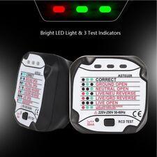 BSIDE AST01 Professional Automatic Electric US/EU Plug Socket Tester Detector