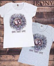 Women's T-Shirt Om Asum Hope, Trust, Love Chakra Meditation India-Namaste TS701