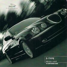 Jaguar S-Type 2000-01 UK Market Prices & Options Brochure 3.0 V6 SE 4.0 V8