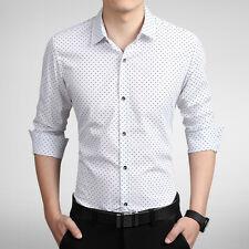 New Men's Shirt Formal Luxury Casual Business Slim Fit Stylish Dress Shirts 6284