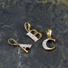 9ct Gold & Diamond Alphabet Letter Charm A - Z / Pendant / Initials / Charms