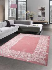 Modern tapis poil ras tapis de salon pastel rose crème