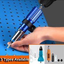 Rivet Nut Gun Adapter Set Hex Shank Electric Riveter Drill Attachment Cordless