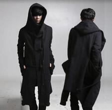 Black Cloak Hooded Punk Outwear Men Gothic Long Trench Coat Jacket Peacoat Parka