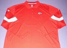Kansas City Chiefs Horizon Sideline Polo Shirt Medium Long Sleeve Red Reebok NFL