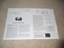 Shure V-15 Type IV Cartridge Review, 2 pg, 1978, Info, Specs